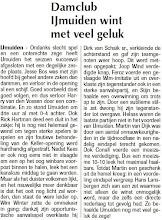 Photo: Damclub IJmuiden wint met veel geluk. 24 februari 2011