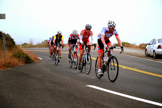 Photo: Event Photo - Carl, me and Max in fast paceline on Rt 1 Near Stinson Beach