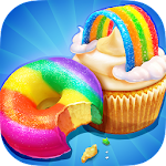 Rainbow Cake Bakery Icon