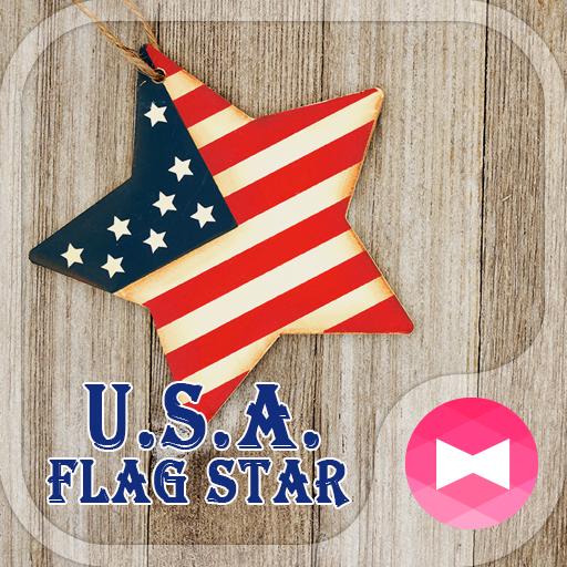 Pretty Wallpaper U.S.A. Flag Star Theme
