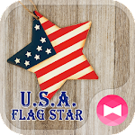 Pretty Wallpaper U.S.A. Flag Star Theme Icon