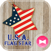 Pretty Wallpaper U.S.A. Flag Star Theme