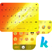 Sun Emoji Kika Keyboard Theme