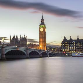 London Sunset by Mark Anolak - Buildings & Architecture Public & Historical ( big ben, england, london, sunset, skyline )