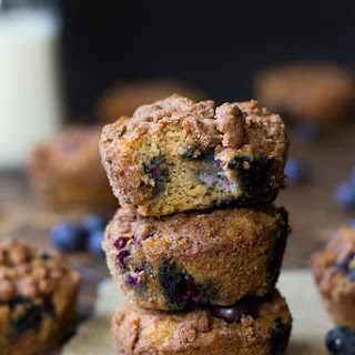 Paleo Blueberry Coffee Cake Muffins {Nut Free}