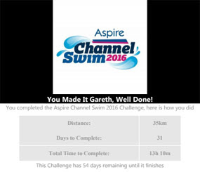 2016 December News - Aspire channel swim results