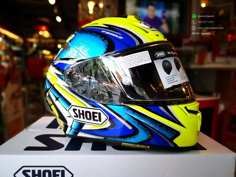 SHOEI X SPIRIT III DAJIRO TC3 Blue