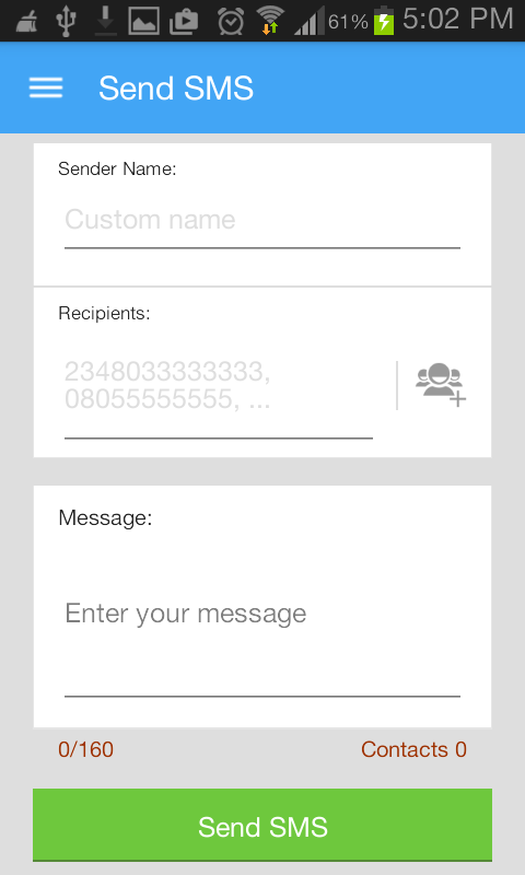 Bulk SMS App (Free)- screenshot
