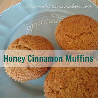 Whole Wheat Quick Mix Honey Cinnamon Muffins.
