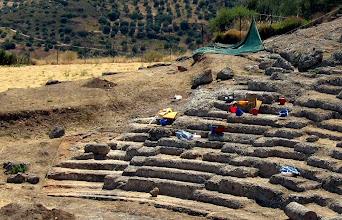 Photo: Αρχαίο Θέατρο Αιγείρας. εργασίες αποκατάστασης