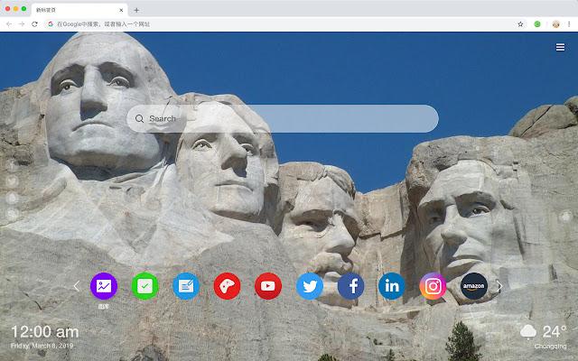 Mount Rushmore HD Popular Scenery Theme