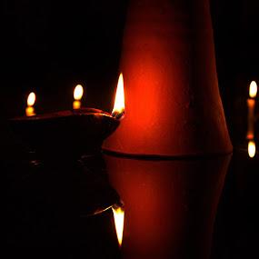 Dark Light........................ by Amritakshya Dey - Abstract Fire & Fireworks