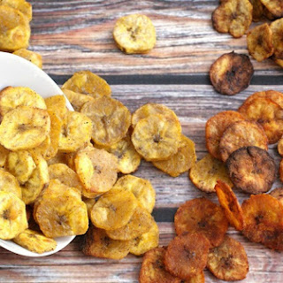 Healthy Baked Plantain Chips Four Ways Recipe
