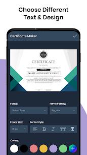 Certificate Maker Generator v4.9.1 Pro APK 3