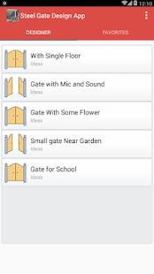 Steel Gate Design App - náhled