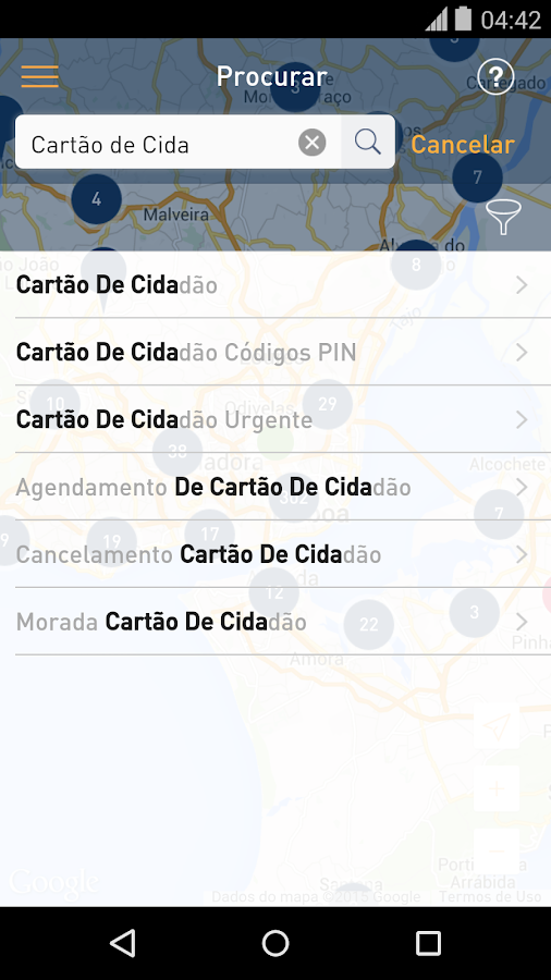Mapa do Cidadão- screenshot