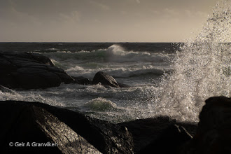 Photo: Windy day with rough sea outside Jæren, on the South Western coast of Norway. The autumns storms are about to arrive now it seems.