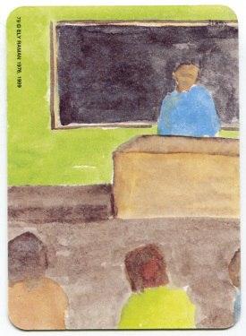 Карта из колоды метафорических карт Ох: школьный класс