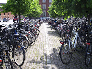 Photo: lots of bikes -- this outside the train station