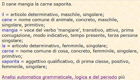 Analisi grammaticale italiana- screenshot thumbnail