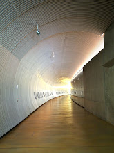 Photo: This tunnel leads from the main entrance to the labs.