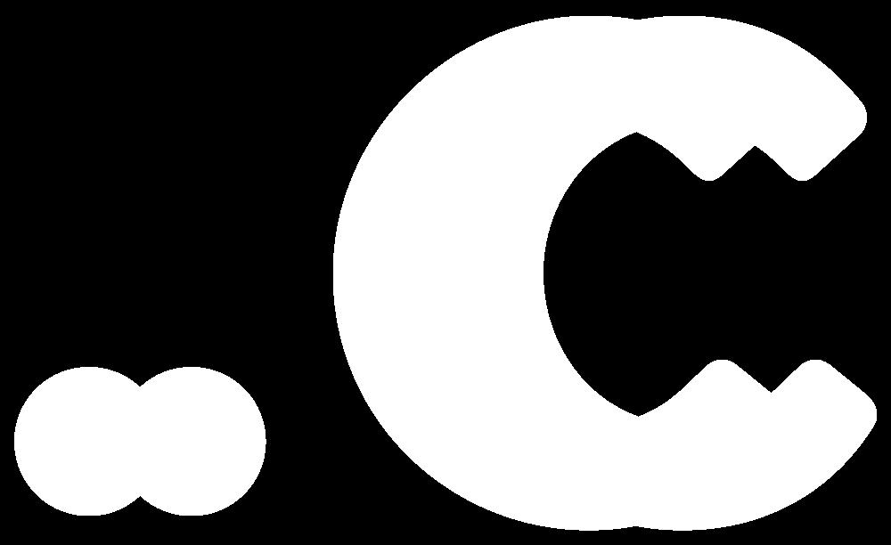 Logo for the .c TLD (White)