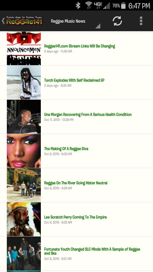 Reggae141.com- screenshot