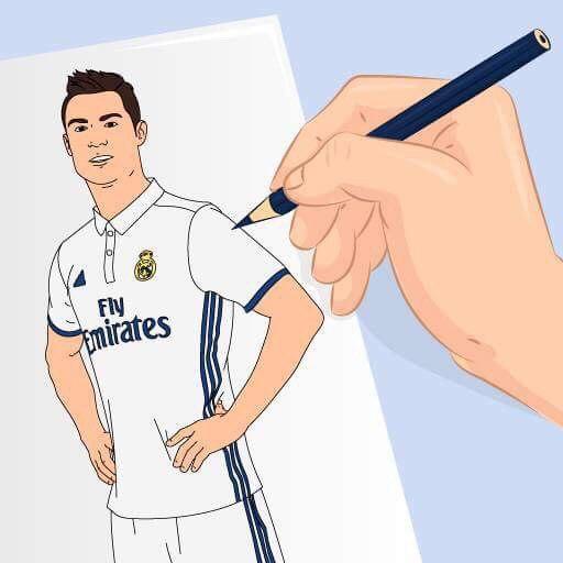 Draw world logo