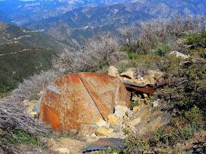 Photo: Ruins of a water tank on Sunset Peak