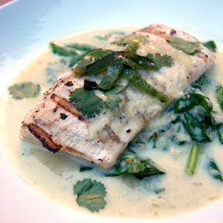 Mahi Mahi w/ Green Chile-Coconut Broth.