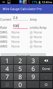 Wire gauge calculator pro apps para android no google play wire gauge calculator pro miniatura da captura de tela greentooth Choice Image