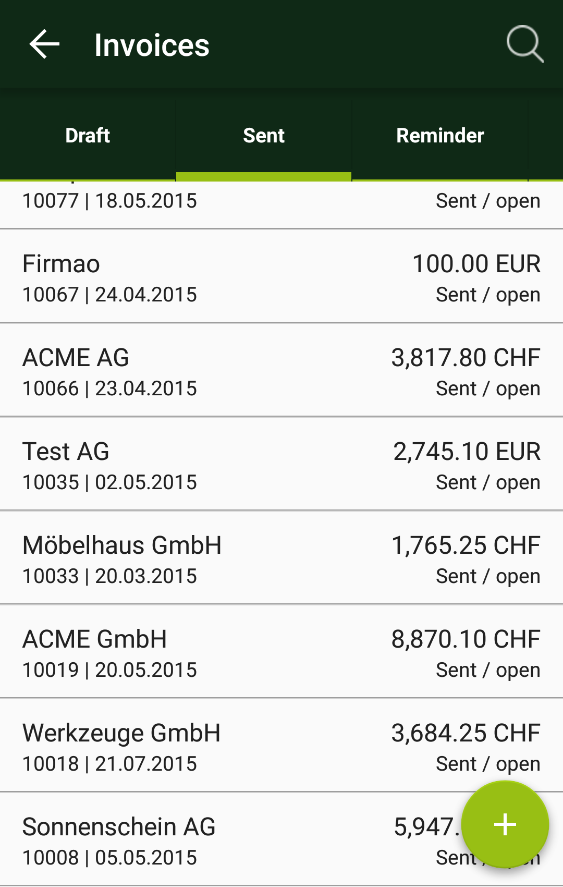 smallinvoice mobile- screenshot