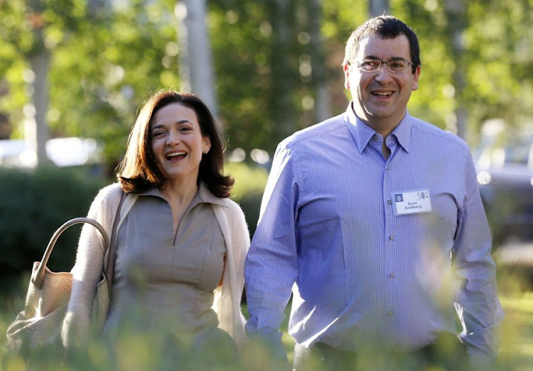 Sheryl Sandberg, chief operating officer of Facebook, arrives with her husband David Goldberg, CEO of SurveyMonkey, for the first day of the Allen and Co. media conference in Sun Valley, Idaho in this July 9 2014 file photo. Picture: REUTERS