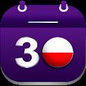 Kalendarz Polski ze Świętami - Darmowy icon