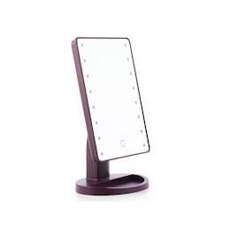 Oglinda pentru machiaj cu leduri si touch