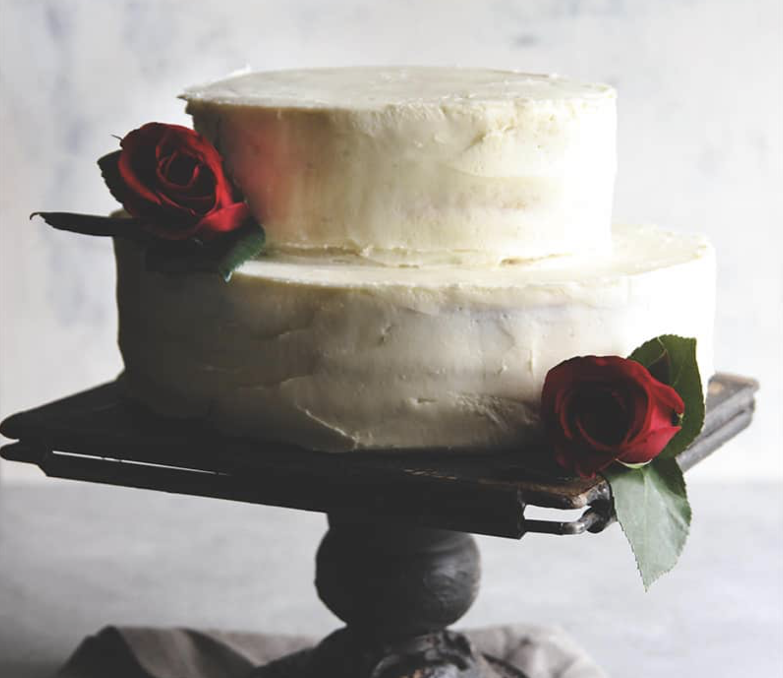 fresh strawberry wedding cake