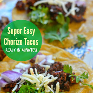 Super Easy Chorizo Tacos - Ready in Minutes!