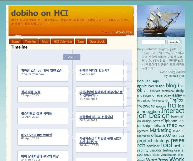 Timeline - dobiho on HCI 2