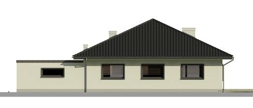 Dom przy Makowej 4 - Elewacja tylna