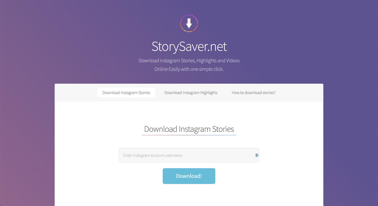 Story Saver screen shot
