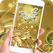 Theme Butterfly Gold Diamond