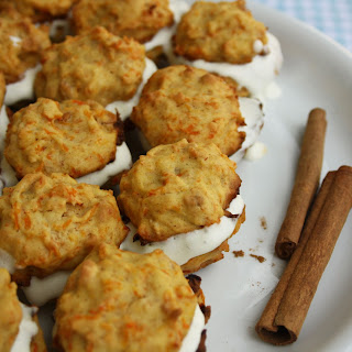 Cashew Carrot Bites with Honey Cream