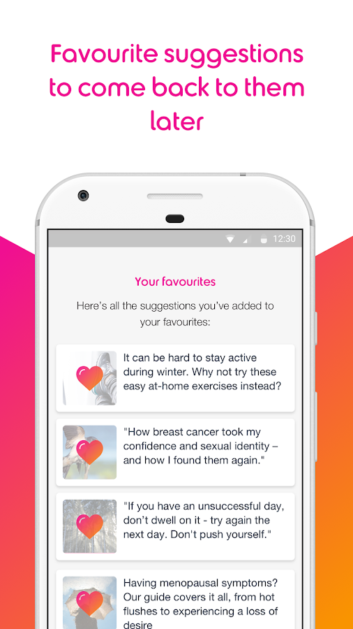 BECCA - the breast cancer care app- screenshot