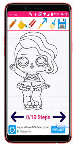 Learn How to Draw Cute Dolls - screenshot