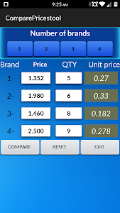 Compare Prices tool screenshot 2