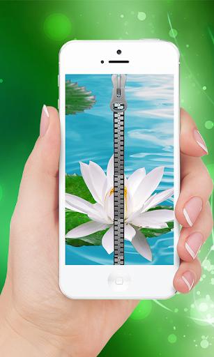 White lotus Zipper lock Screen