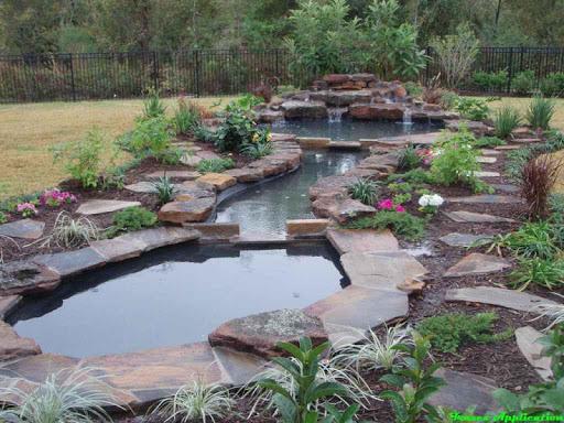 池塘和瀑布设计思路