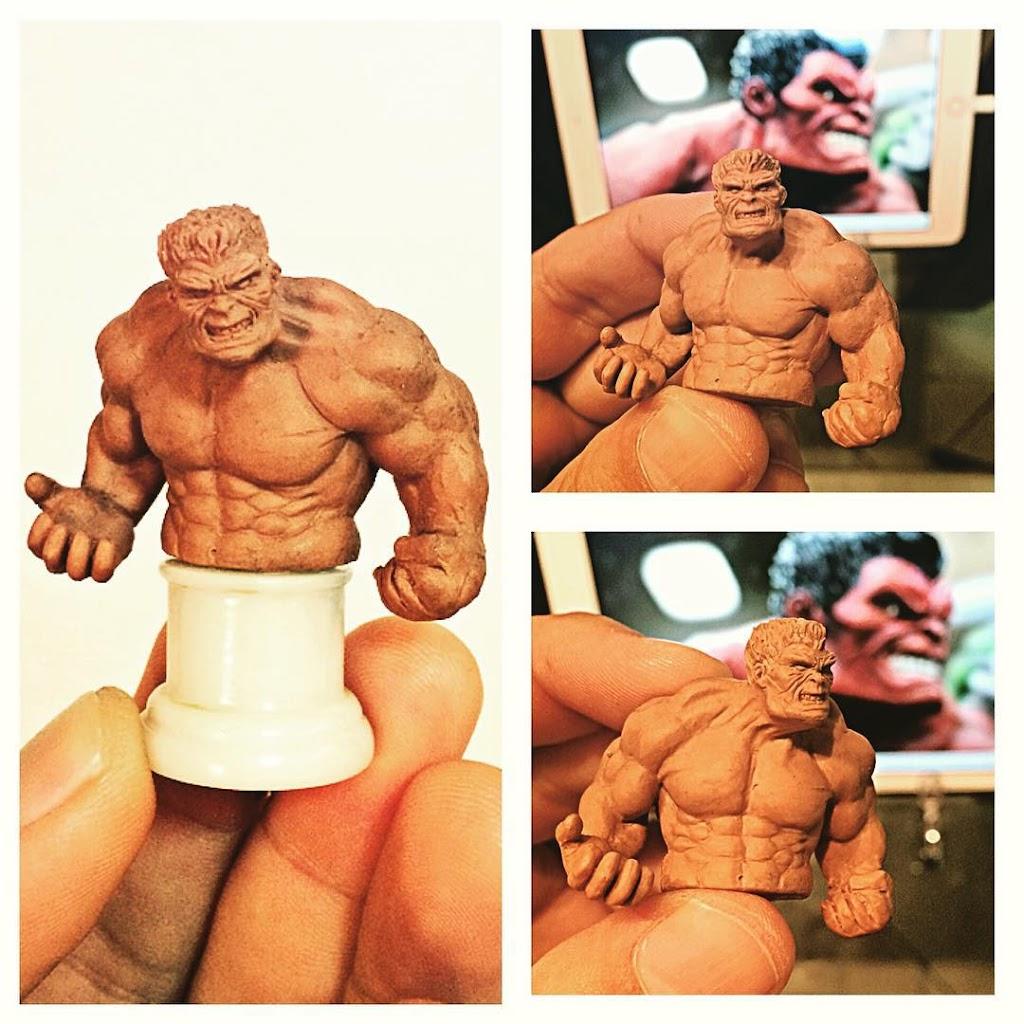 Escultura Hulk Em Oil Clay criada pela Claytrix