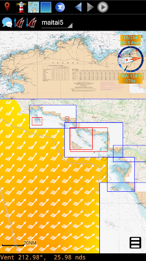 qtvlm navigation and weather routing screenshot 3