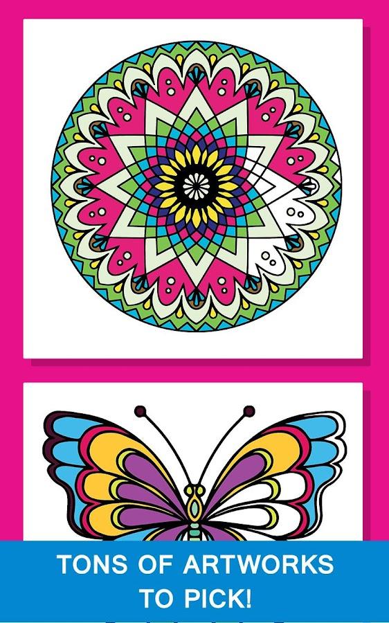 Mandala Coloring Book For Girl Screenshot